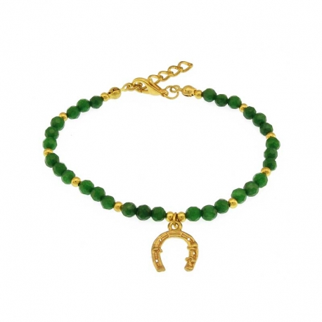 store luck charm online custom green bracelet product flower size with natural black bangle jadeite white jade round