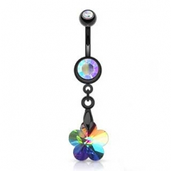 Prism Flower Navel Ring
