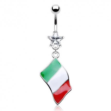 Flag of Italy Belly Ring