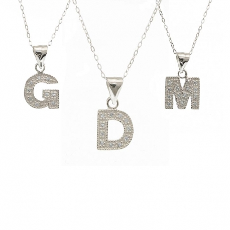 Necklace with Initials Letter