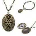 Brass Necklace Photo Frame