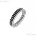 Ring Black CZ Sterling Silver 925