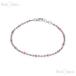 Bracelet with Beads Sterling Silver 925