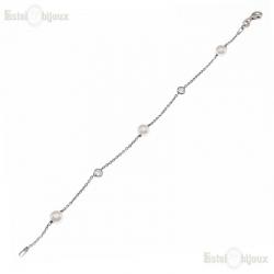 Bracciale Perle CZ Argento 925