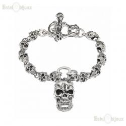 Sterling Silver Skull Bracelet