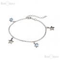 Silver Stars CZ Bracelet