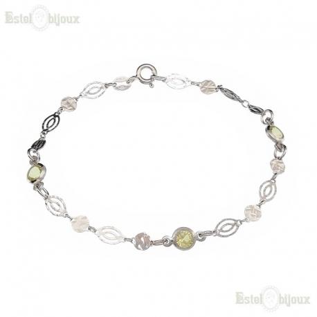 Three CZ Yellow Bracelet