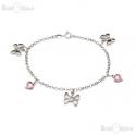 Butterflies CZ Bracelet