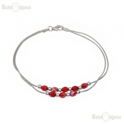 Red Crystals Balls Bracelet