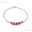 Red Crystals Balls Bracelet