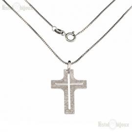 Collana con Crocifisso Argento