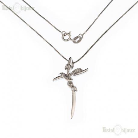 Cross Pendant CZ Necklaces