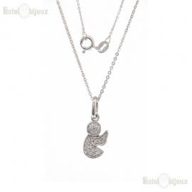 Angel Pendant CZ Necklaces