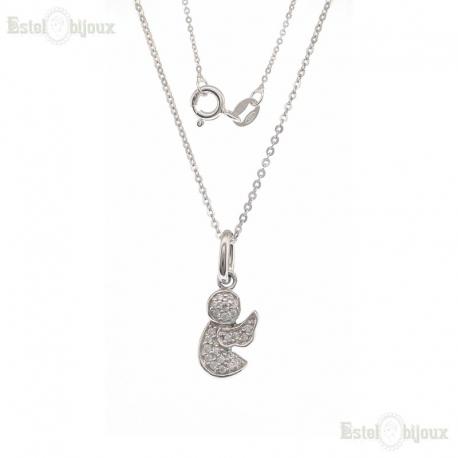 Angel Pendant CZ Necklaces