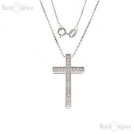 Collana con Croce Argento
