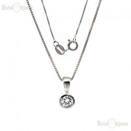 Brilliant-Cut Round CZ Necklace