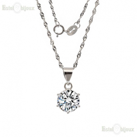 Brilliant-Cut Round CZ Necklace