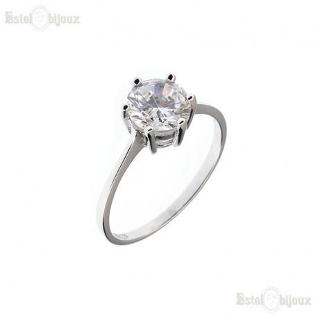 Solitaire Round CZ Ring