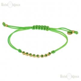 Bracciale Corda Verde CZ