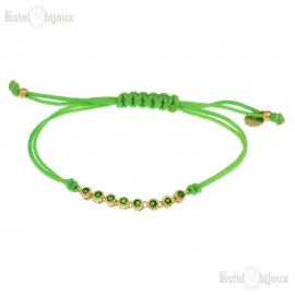 Cord Green CZ Bracelet