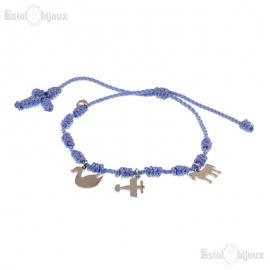 Cord Rosary Bracelet AG925