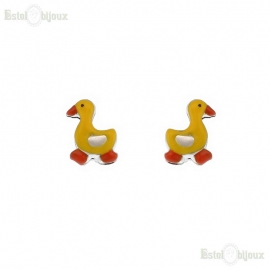 Duck Yellow Earrings