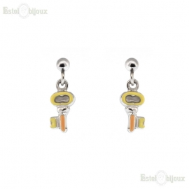 Key Pendant Earrings