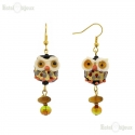 Owl Earrings Murano Glass
