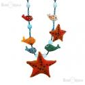 Starfish Necklace Murano Glass