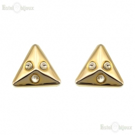 Triangles Clip Earrings