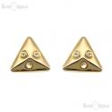 Triangles Clip Earrings