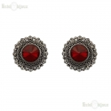 Red Crystals Clip Earrings