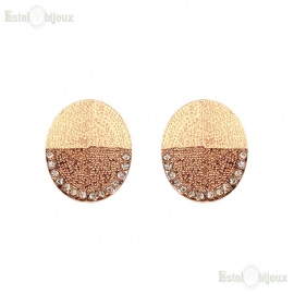 Gold Tone Clip Earrings