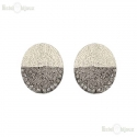 Silver Tone Clip Earrings