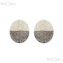 Silver Tone Clip Earrings