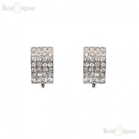 Pavé Clip Earrings