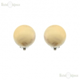 Big Pearls Clip Earrings