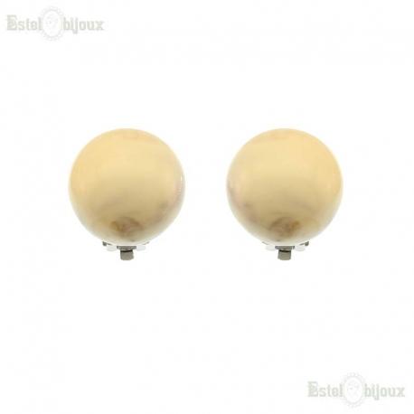 Perle Grandi Orecchini a Clip