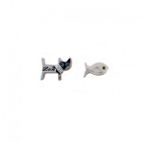 Orecchini Gatto e Pesce
