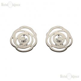 Flower Clip Earrings
