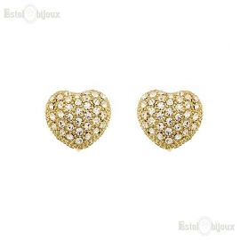 Pavé Heart Clip Earrings