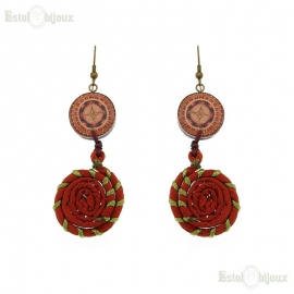 Decoupage Fabric Earrings