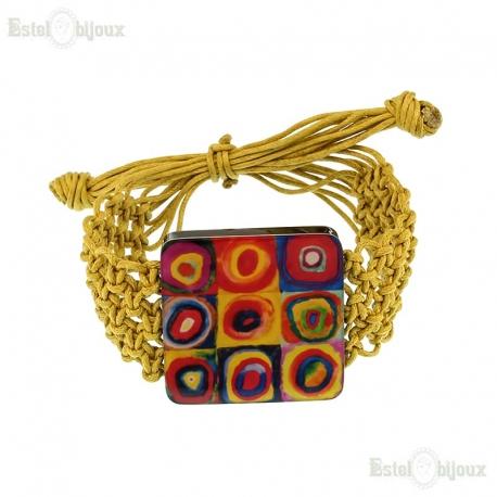 Decoupage Fabric Bracelet