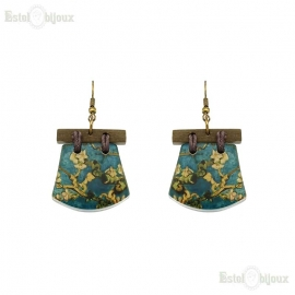 Decoupage Wood Earrings
