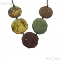 Decoupage Wood Necklace