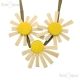 Wood Daisies Necklace