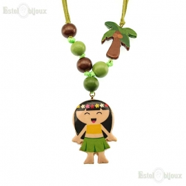 Hawaiana Wood Necklace