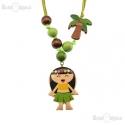 Hawaiana Wood Necklace