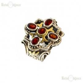 Garnet Stone Sterling Silver Ring