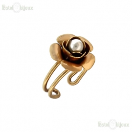 Rose and Pearl Ring